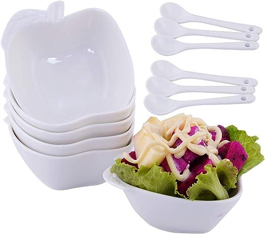 Side Sauce Dish Salsa Dip Bowl 4oz each Brand New 6 White Ramekin Sauce Cups