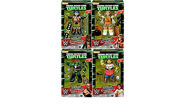 Amazon.com: Ninja Superstars Action Figure Wave 2 SET: Toys ...