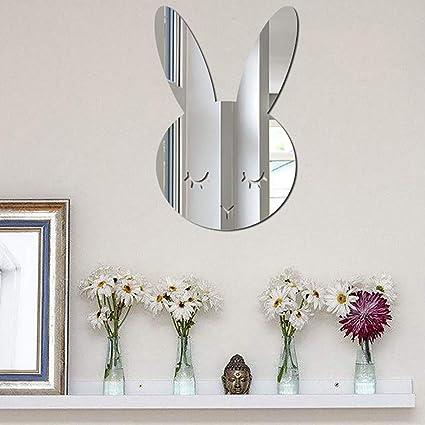 Several Sizes Available Rabbit Acrylic Mirror