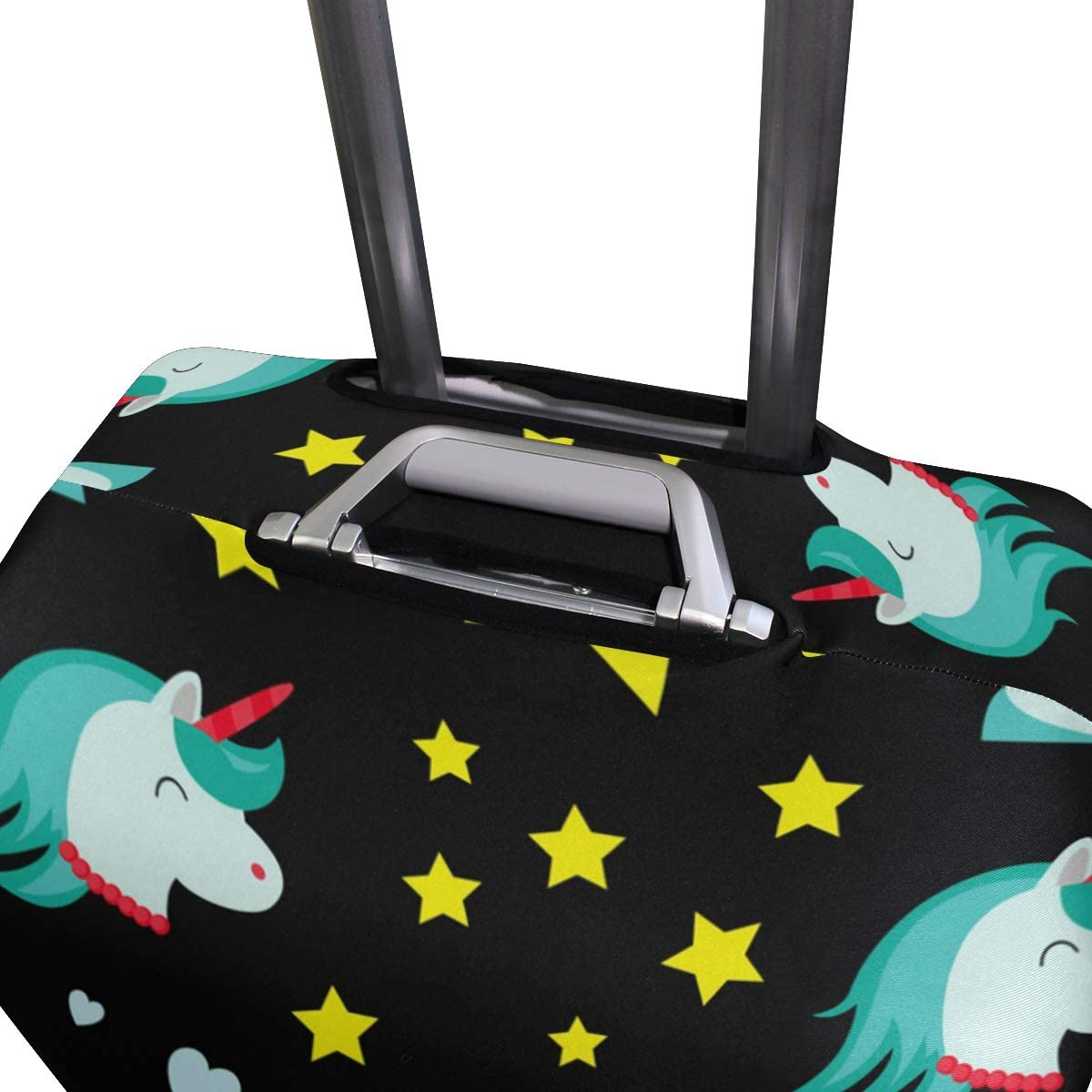 FOLPPLY Colorful Unicorn Luggage Cover Baggage Suitcase Travel Protector Fit for 18-32 Inch