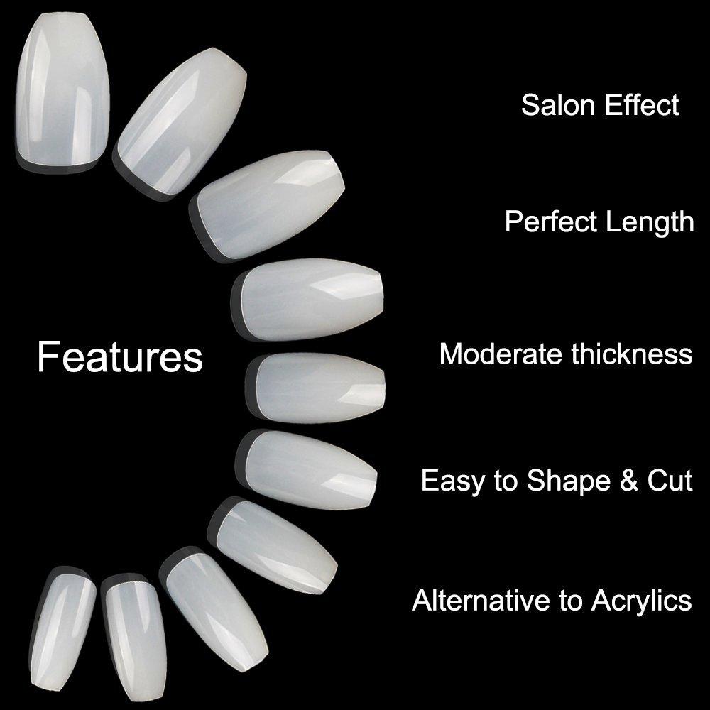 Amazon.com : ECBASKET 500Pcs Coffin Nails Short Fake Nails Acrylic ...