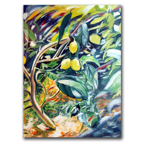 Trademark Fine Art Lemon Tree by Colleen Proppe Canvas Wall Art, 26x32-Inch
