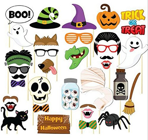(Set of 35)Happy Halloween Photo Booth Props,DIY Kit Funny Witch ghosts Hat Pumpkin Bat Fancy Party (Cat Lips For Halloween)