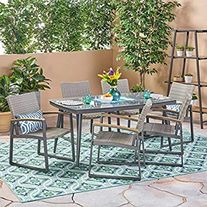 Amazon 7 Piece Outdoor Dining Set