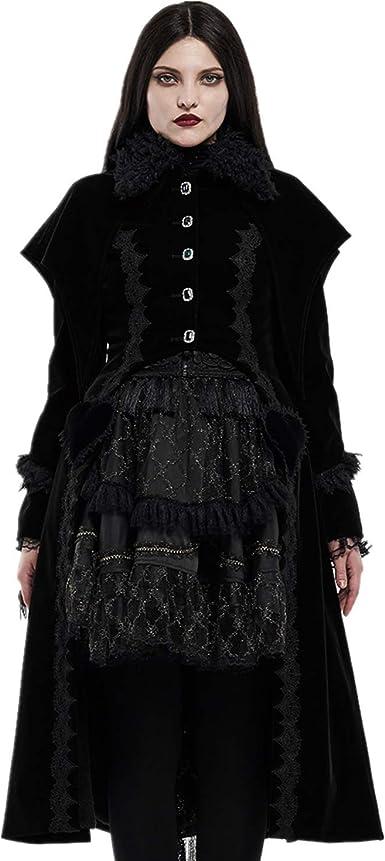 Punk Rave Women Gothic Weft Velvet Short Coat Lace Decoration Court Evening Party Stage Performance Novelty Costume