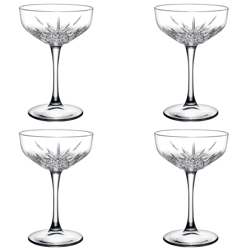 The Bar Glass Timeless Era Cocktail Coupe Glasses 9 oz (4)