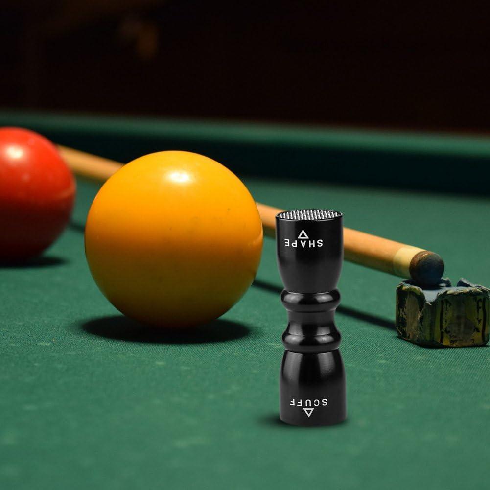 Pajarita de Billar/Pool/Snooker Cue Tips Stick Cue Atención Bastidor Scuffer-Shaper-Aerator 3 en 1 Herramientas de Reparación de Herramienta de Punta de Taco de Billar de Acero Inoxidable Negro: Amazon.es: Deportes y aire