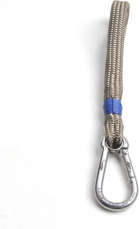Porte-cl/és Marin styl/é Corde Nautique constitu/ée de Bouteilles en Pet /à 100/% recycl/ées. Mousqueton Haut de Gamme en Acier Inoxydable