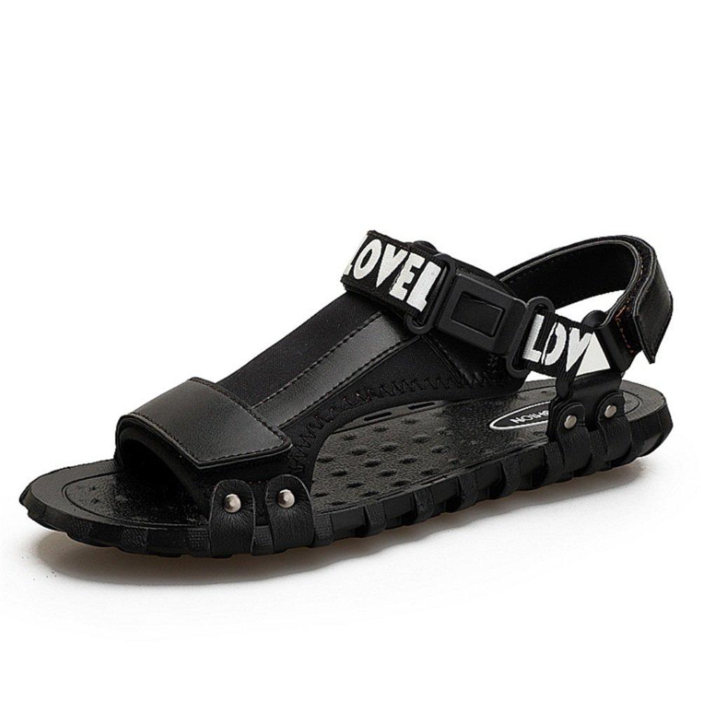 Wagsiyi Hausschuhe Sandale Männer Outdoor Beach Sports Rutschfeste und Stoßfest Beach Outdoor Schuhe Atmungsaktive Sandalen (24,0-27,0) cm Strandschuhe (Farbe : Schwarz, Größe : 38 2/3 EU) Schwarz 9a71d5