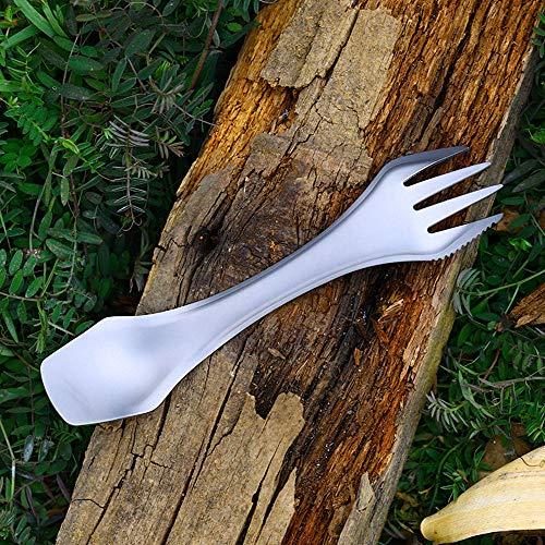 Amazon.com: Cuchara de titanio Anana, tenedor y cuchillo 3 ...