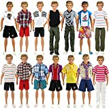 ken doll clothes and accessories - Barwa Random Style 3 Sets Fashion Casual Sporty Summer Set Outfit for 12 inch Barbie Ken Doll