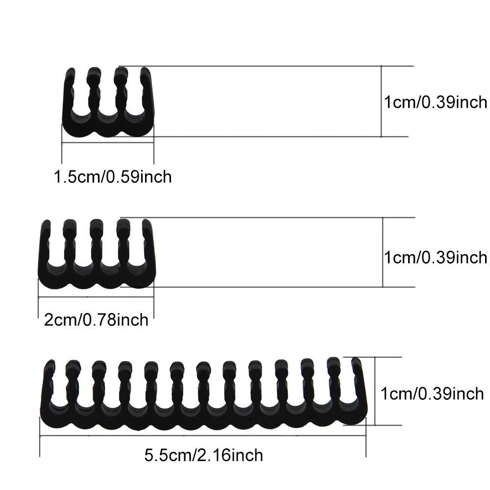 Negro 24pcs Abrazadera de Cable 6//8//24 pines Sistema de Gesti/ón de Cable para Organizar Cables en la Caja de Ordenador de Sobremesa Golrisen Peine de Cable de 2,5 a 3,0 mm Sujetador de Cable