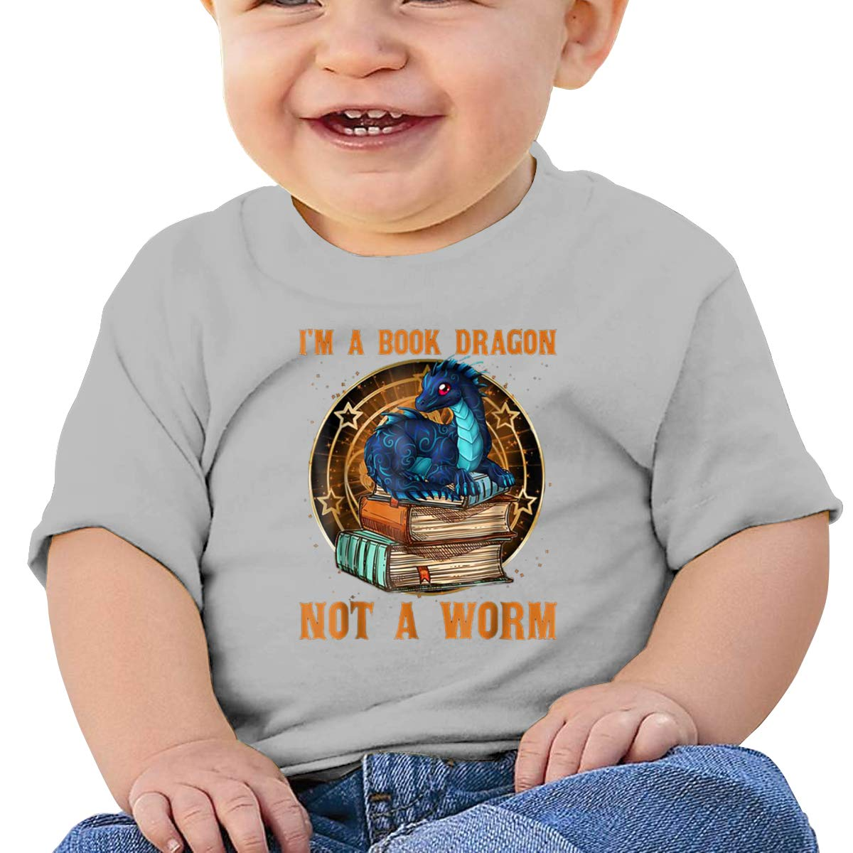 I Am Book Dragon Not A Worm Toddler Short Sleeve Shirts Girls Birthday Gift