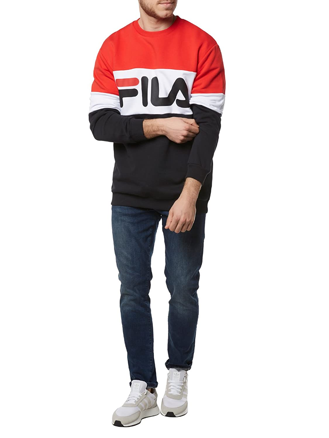 410a51fd358c Fila Men Jumpers Urban Line Straight Blocked: Amazon.co.uk: Clothing