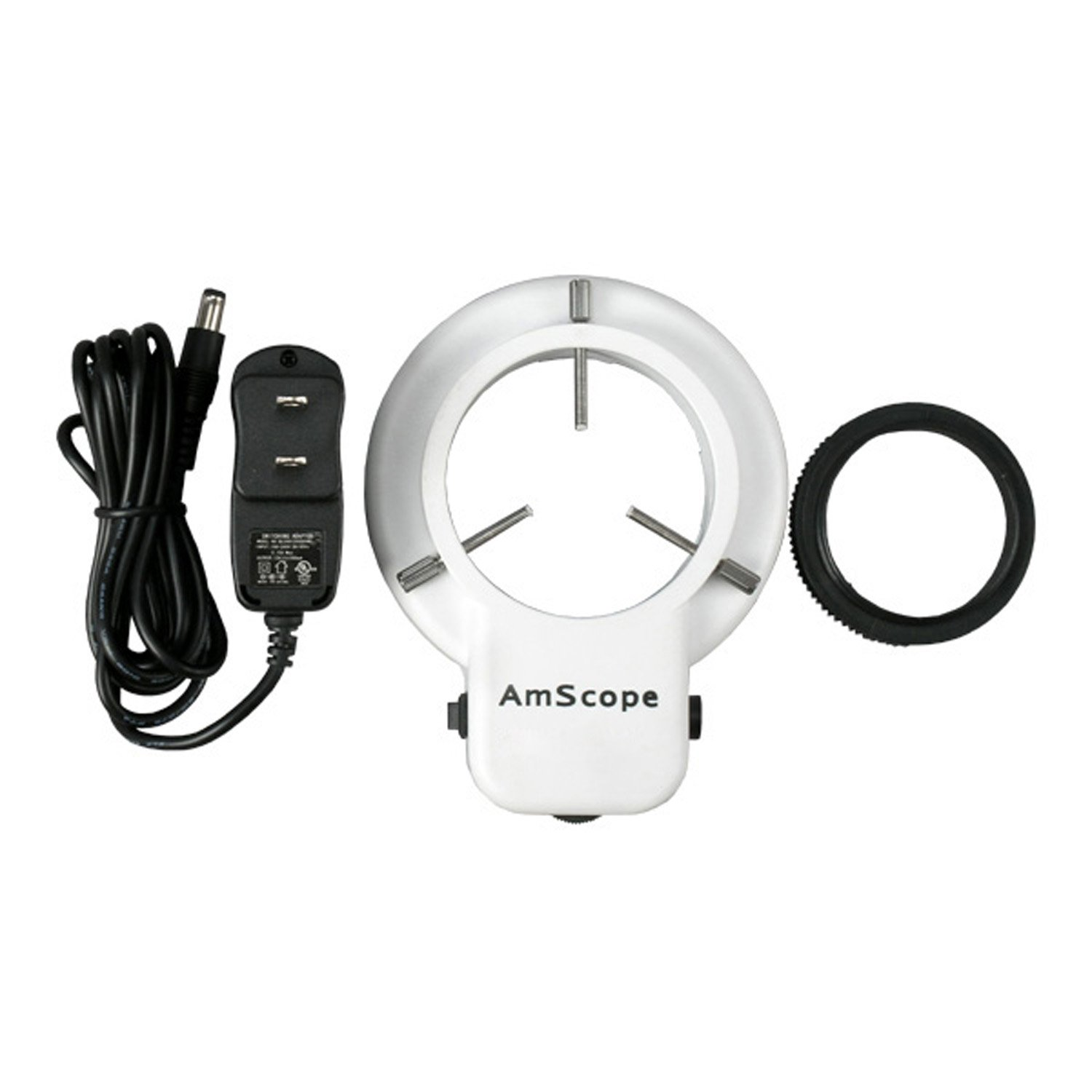 AmScope LED-48 48 LED Microscope Ring Light w/ Dimmer + Adapter by AmScope