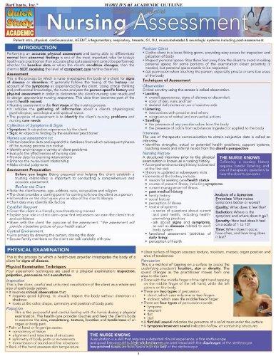Nursing: Assessment (Quickstudy: Academic)