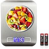 SEEDARY Báscula Digital para Cocina de Acero Inoxidable, 5kg / 11 lbs, Balanza de de Cocina de Alta Precisión, Alimentos Mult