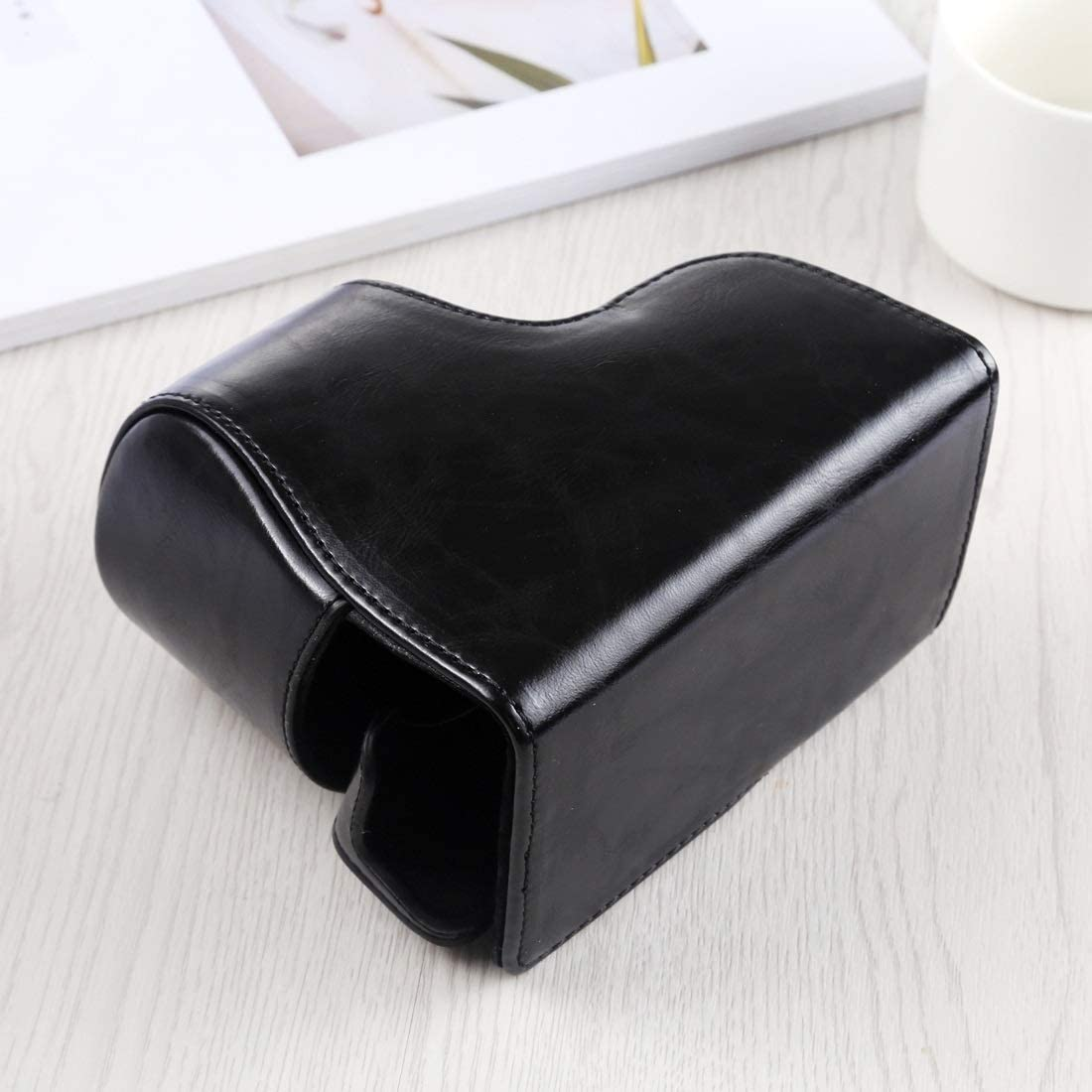 ILCE-A6400 Color : Black ZQ House Full Body Camera PU Leather Case Bag with Strap for Sony A6400