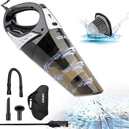 5500PA Aspirateur sans Fil Rechargeable Aspirateur Portable avec Filtre en Acier Inoxydable et 2 Lumi/ère LED pour Maison TowerTop Aspirateur /à Main sans Fil Voiture Humide et Sec