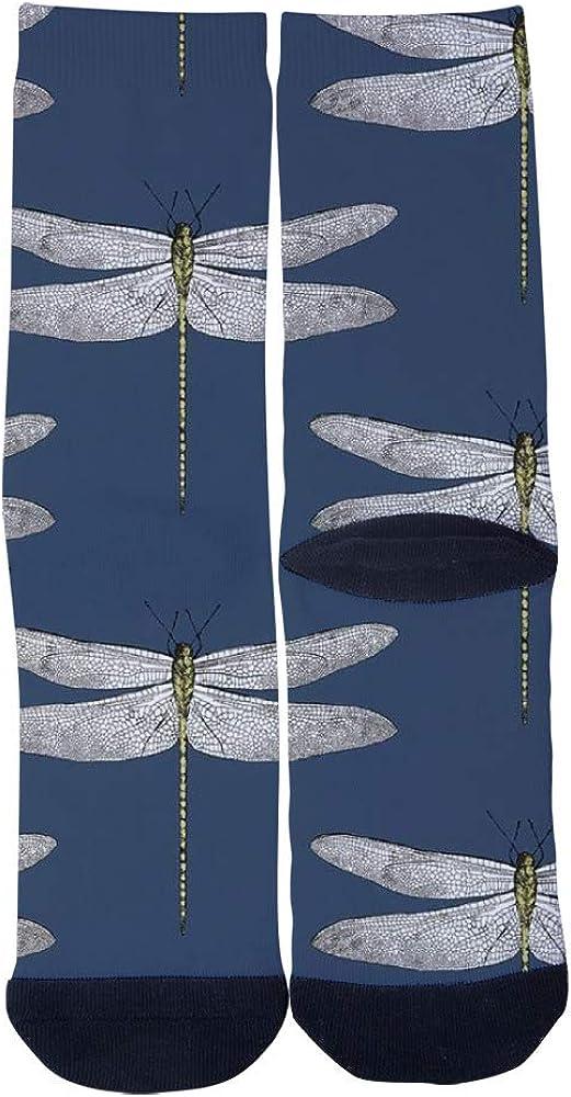 TheFun-Z Custom Beautiful Dragonfly Socks Novelty Funny Cartoon Crew Socks Elite Casual Socks