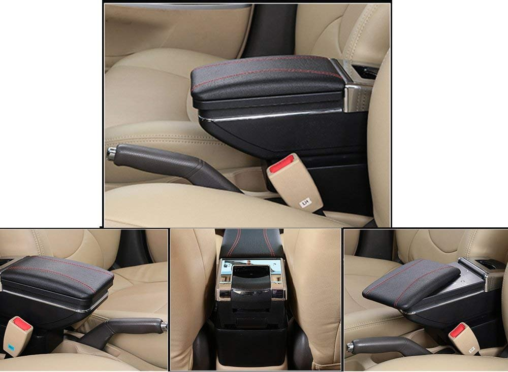 Gray Car Armrest Box For Ecosport 2013-2017 Car Center Console Storage Box Interior Accessories
