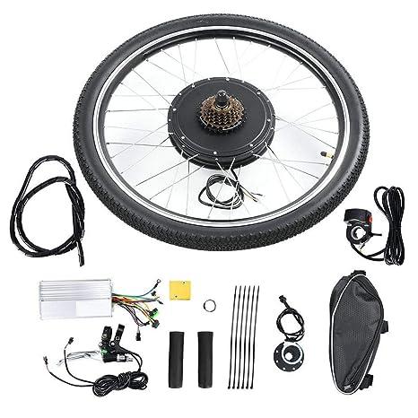 BTIHCEUOT Kit de Rueda de Bicicleta eléctrica, 48V 1000W Kit de ...