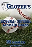 Glover's Scorebooks Baseball/Softball Line-Up