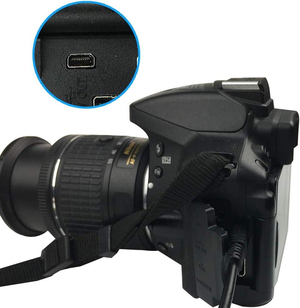 1.5m Replacement Camera UC-E6 UC-E23 UC-E17 USB Cable Photo Transfer 8 Pin Cord Compatible with Nikon Digital Camera SLR DSLR D3200 D3300 D750 D5300 D7200 Coolpix L340 L32 A10 P520 P510 P500 /& More