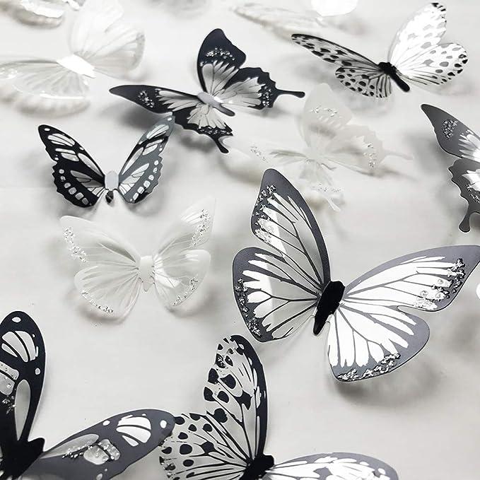 36pcs Colorful 3D Artificial Butterflies Home//Wedding Decoration with Magnet 7CM