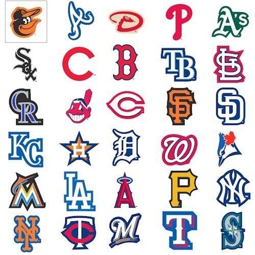 Houston Astros Mlb Baseball Sticker - MLB Baseball Sticker Set (50 Stickers) Complete Set Plus 20 Extras.