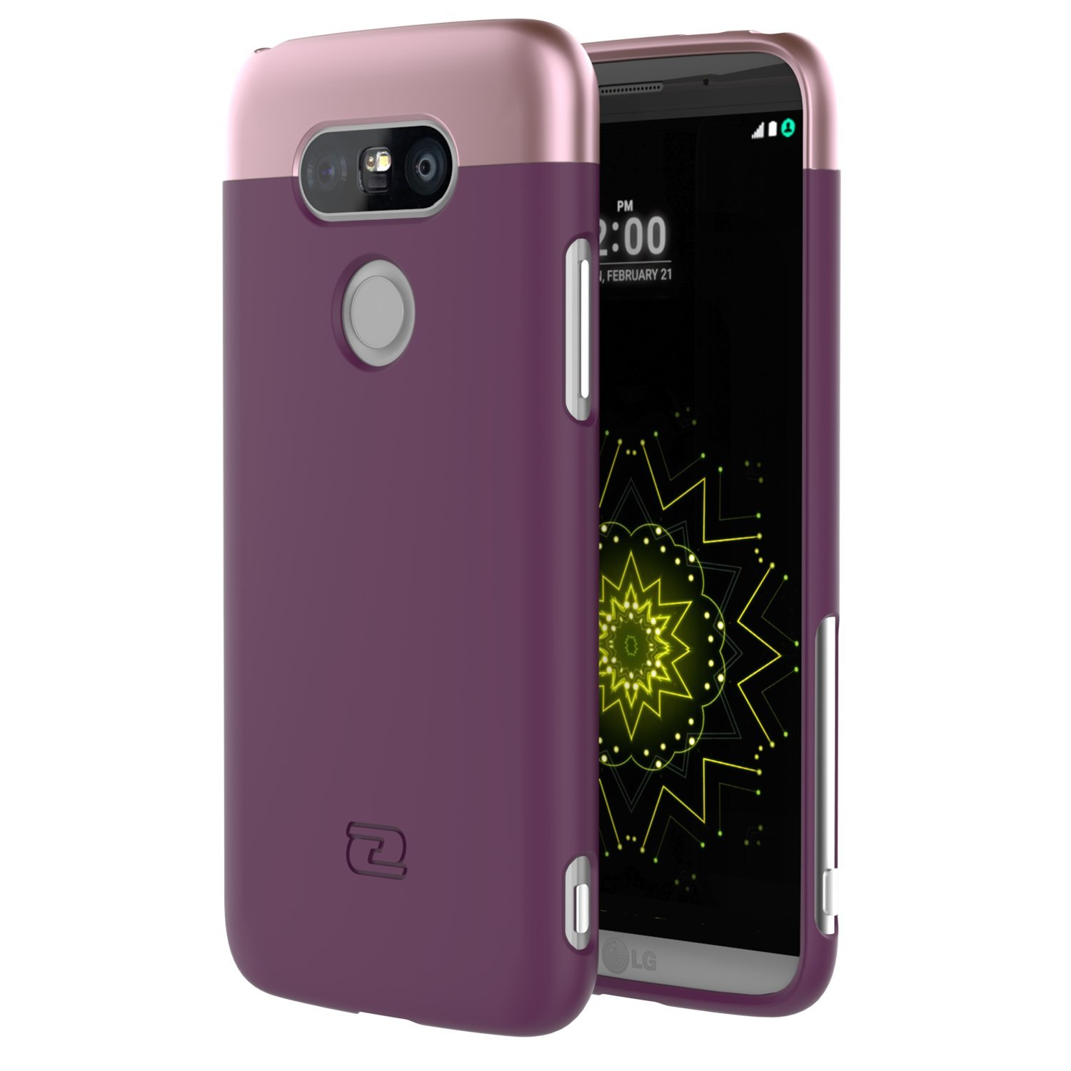 LG G5 Thin Case - Ultra Slim SlimShield Hybrid Shell by Encased (Royal Purple)