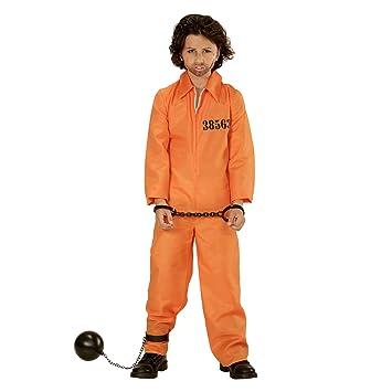 WIDMAN Cárcel del Condado de Preso - Disfraz Infantil - Grande - Edad 11-13 - 158cm