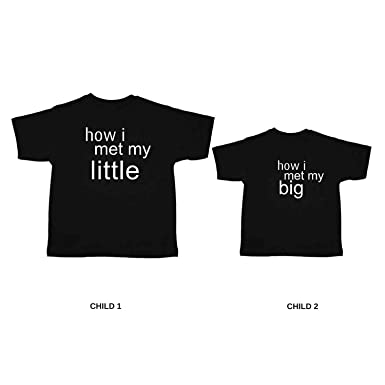 28980ddd9624 YaYa cafe Printed Kids Siblings T-Shirts for Brother and Sister I Met My Big
