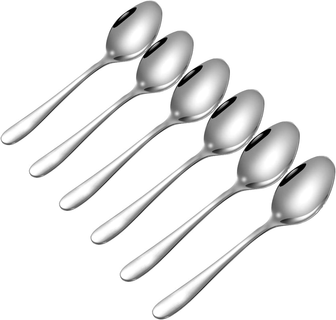 HOHSCHEID 18//10 Stainless Steel Tea Spoons 12 Pack Tea Spoons 5.8 Inches Flatware Tea Spoon