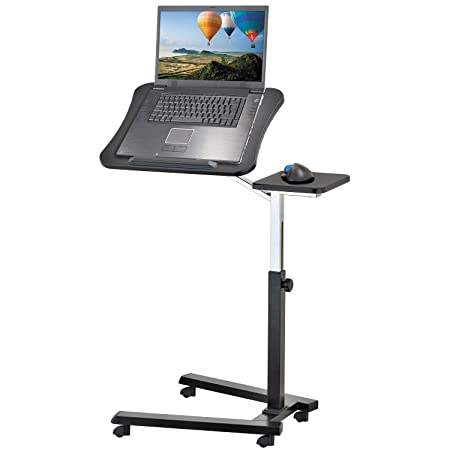 Tatkraft Joy Adjustable Laptop Stand Desk For Laptop Tray Table With Mouse  Board, Portable Computer