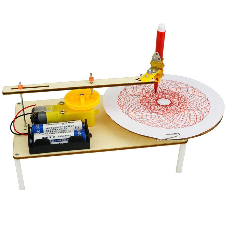 WOVELOT Creativo puzzle diy kit assemblati bambini fatti a mano giocattolo graffiti semplice scienza gizmo fisica esperimento risorse plotter elettrico