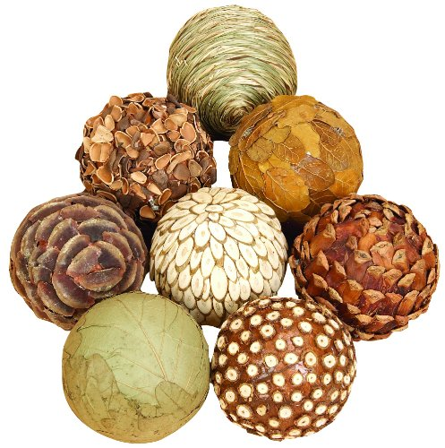 Benzara Natural Ball Bamboo Wood Balls, Set of (Home Decor Balls)