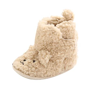 DDLBiz Baby Boy Girl Lovely Warm Soft Sole Snow Boots Crib Shoes Boots