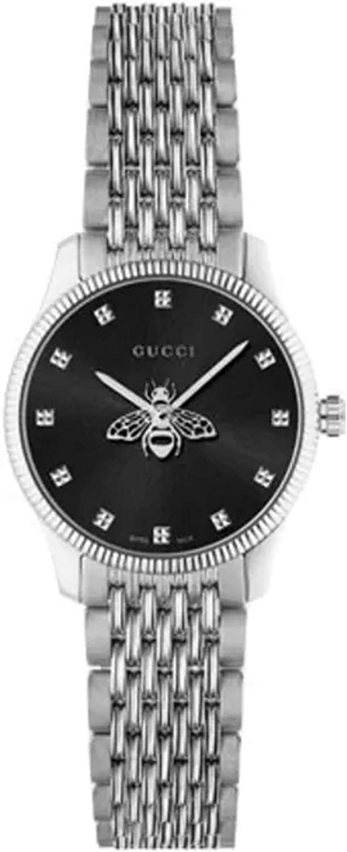 Gucci G-Timeless Reloj de mujer de acero inoxidable con esfera negra