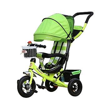 3-en-1 Niño 3 Ruedas Bicicleta Niños Primera Bicicleta Triciclos para niños Cochecitos Plegables Niño Trike Bastidor de Acero Fuerte: Amazon.es: Hogar