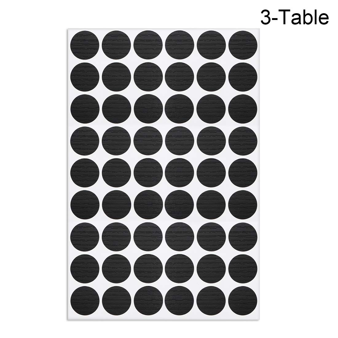 uxcell Self-Adhesive Screw Hole Stickers,2-Table Self-Adhesive Screw Covers Caps Dustproof Sticker 21mm 54 in 1 White