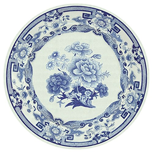 Entertaining with Caspari Dinner Plates, Blue and White, 8-P