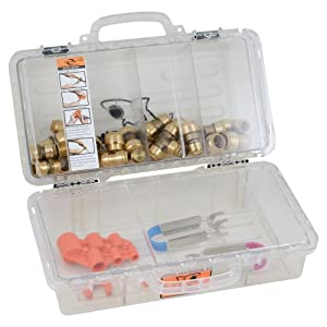 SharkBite 22486LF PEX, CPVC, PE-RT a Assorted Tool Box, Contractor Kit, Push-To-Connect Copper Fittings