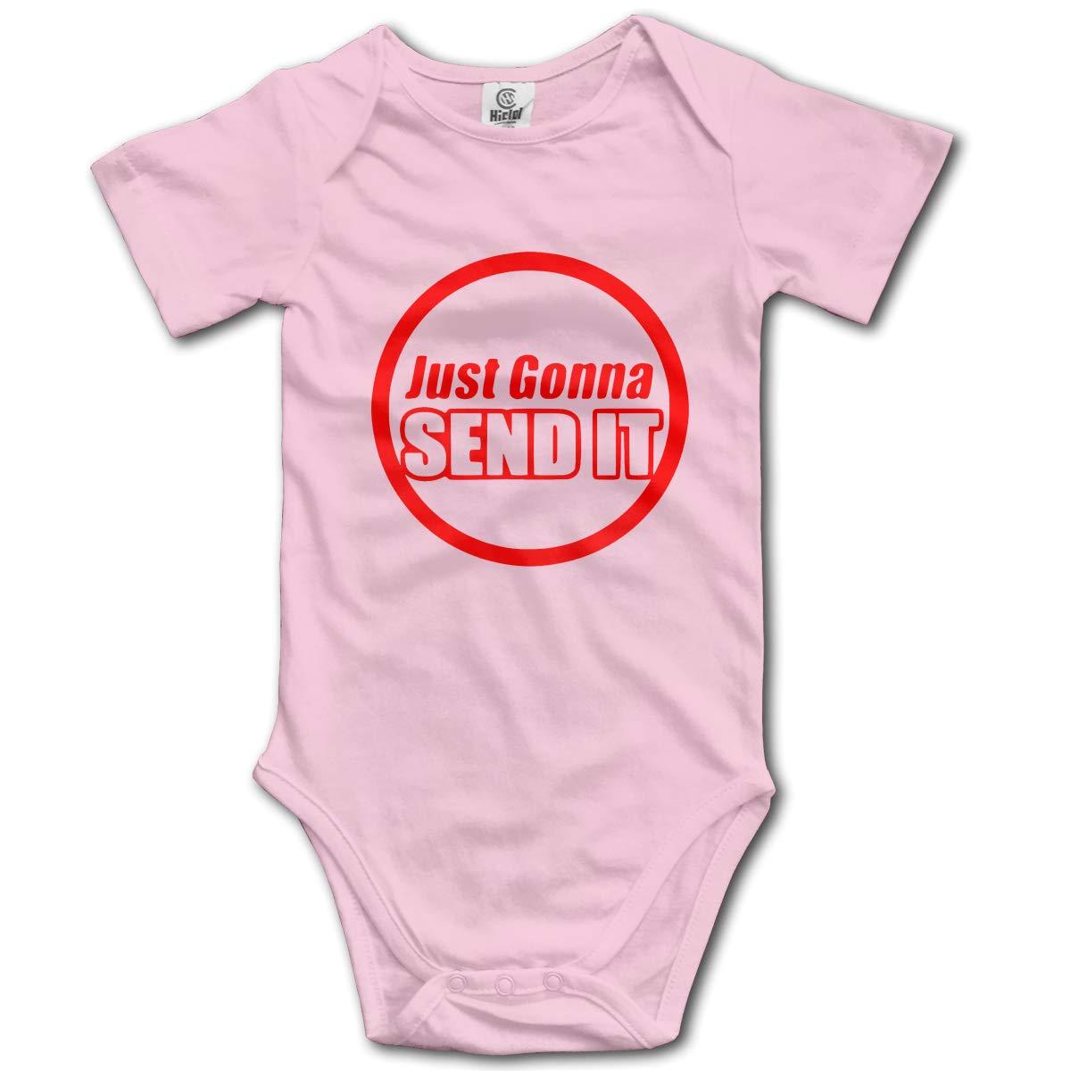 Coollifea Just Gonna Send It Baby Romper 0-18 Months Newborn Baby Girls Boys Layette Rompers Black