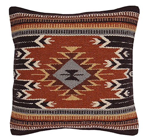 Southwest Boutique Hand Woven WOOL Throw Pillow Cover Southwest Mexican Tribal Native American Style ()