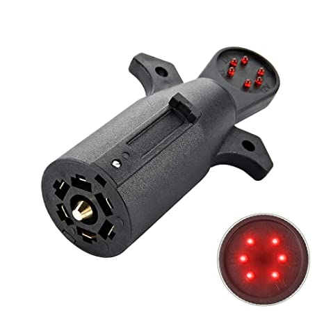 COROTC 7 Way Trailer Wiring Tester, 7 Pin RV Blade Trailer Light Circuit on