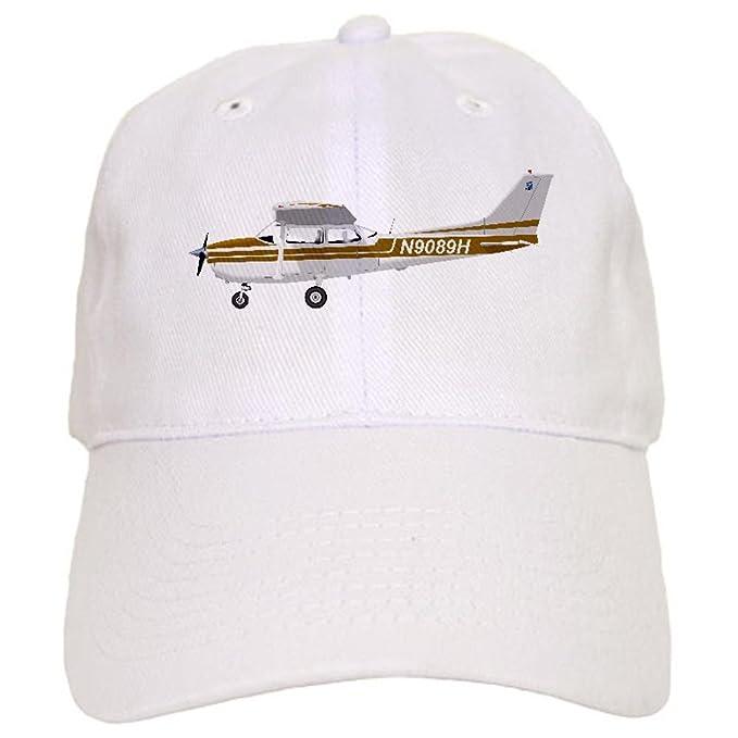 4a3a4b3552a19e Amazon.com: CafePress - Cessna 172 Skyhawk Brown - Baseball Cap with  Adjustable Closure, Unique Printed Baseball Hat: Clothing