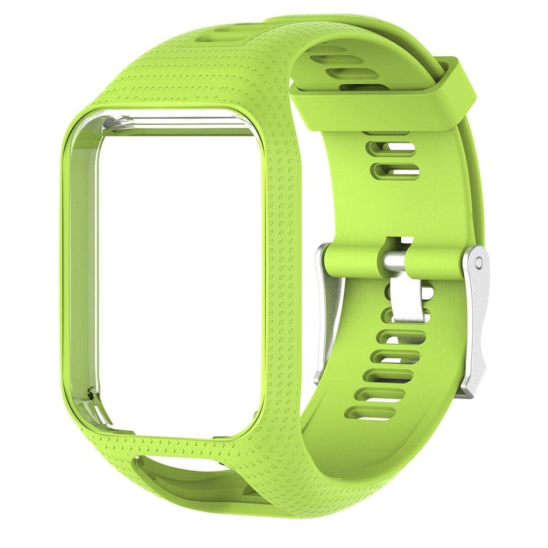 Binmer ( TM )交換用シリコンバンドストラップfor TomTom Spark 2 / 3 Sport GPS Watch 22MM グリーン  グリーン B0753C5V36