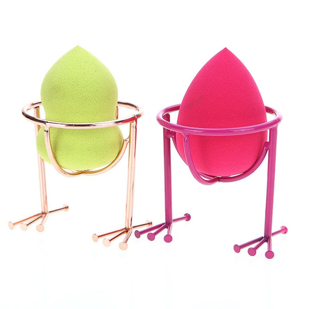 MALLOOM 2 Pcs Cute Chicken Feet Power Puff Display Stand Holder Makeup Sponge Drying Rack