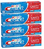 Crest Kid's Crest, Fluoride Anticavity Toothpaste, Sparkle Fun Flavor, 6.4 Ounce Tubes (4 Pack)